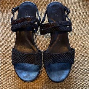 UGG Lira Mar Heel Sandal Sz 9.5